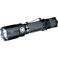 YesEatIs Rechargeable, robust and compact Unisex Adult Tactical Flashlight, Black