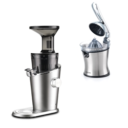 Vertical Juice Extractor H-100 - Silver + CJ citrus juicer included