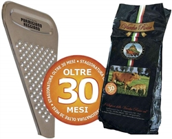 Vacche Rosse Cheese 30 Months 1 Kg + Cheese Grater