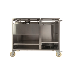 VESTA Mobile Station for Vacuum Cooking in Stainless Steel-Housings for Sous-Vide and Vacuum Machine