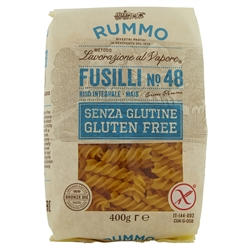 Fusilli n.48 Gluten Free Bronze Drawn - 12 Packs of 400 g