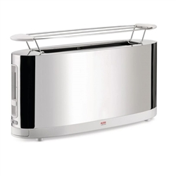 Alessi-Toaster with warming grid in 18/10 stainless steel