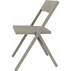 Alessi-Piana Folding and stackable chair in PP and fiberglass, gray