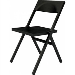Alessi-Piana Folding and stackable chair in PP and fiberglass, black