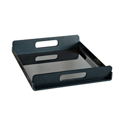 Alessi-Vassily Rectangular tray in 18/10 black stainless steel