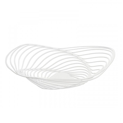 Alessi-Trinity Centerpiece in steel colored with epoxy resin, white