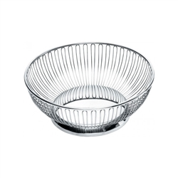 Alessi-Round wire basket in 18/10 stainless steel