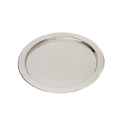 Alessi-Round glove bowl with graphic in 18/10 polished stainless steel