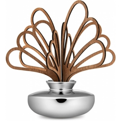 Alessi-Uhhh Leaves diffuser for room in porcelain and mahogany