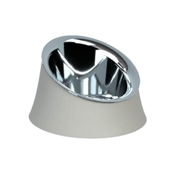 Alessi-Wowl Dog bowl in resin, Warm Gray and 18/10 stainless steel