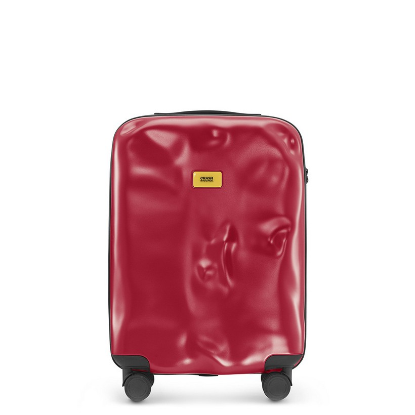 photo Trolley Icon Line - Cabin Baggage - 4 Wheels - 40 Liters - Red