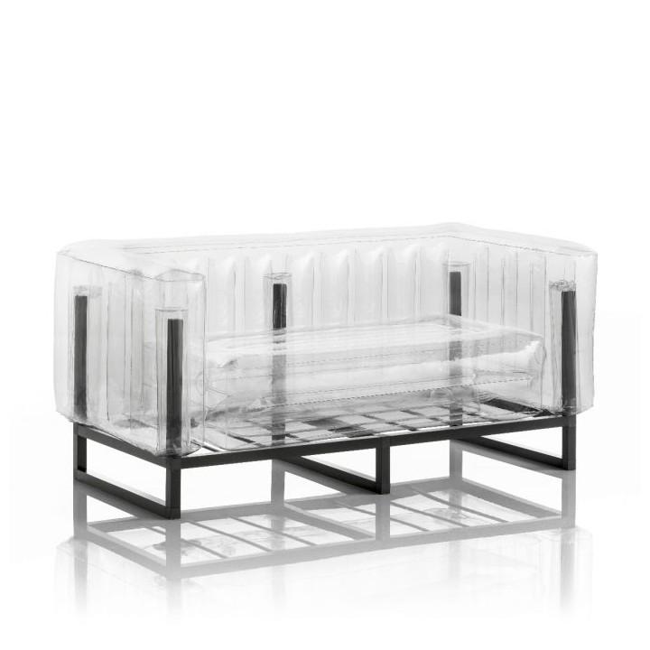 Aufblasbarer Sofa mit Metallstruktur - YOMI Linie- Transparent