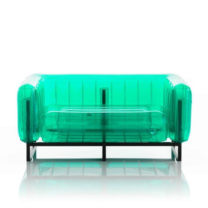 Aufblasbarer Sofa mit Metallstruktur - YOMI Linie - Grün