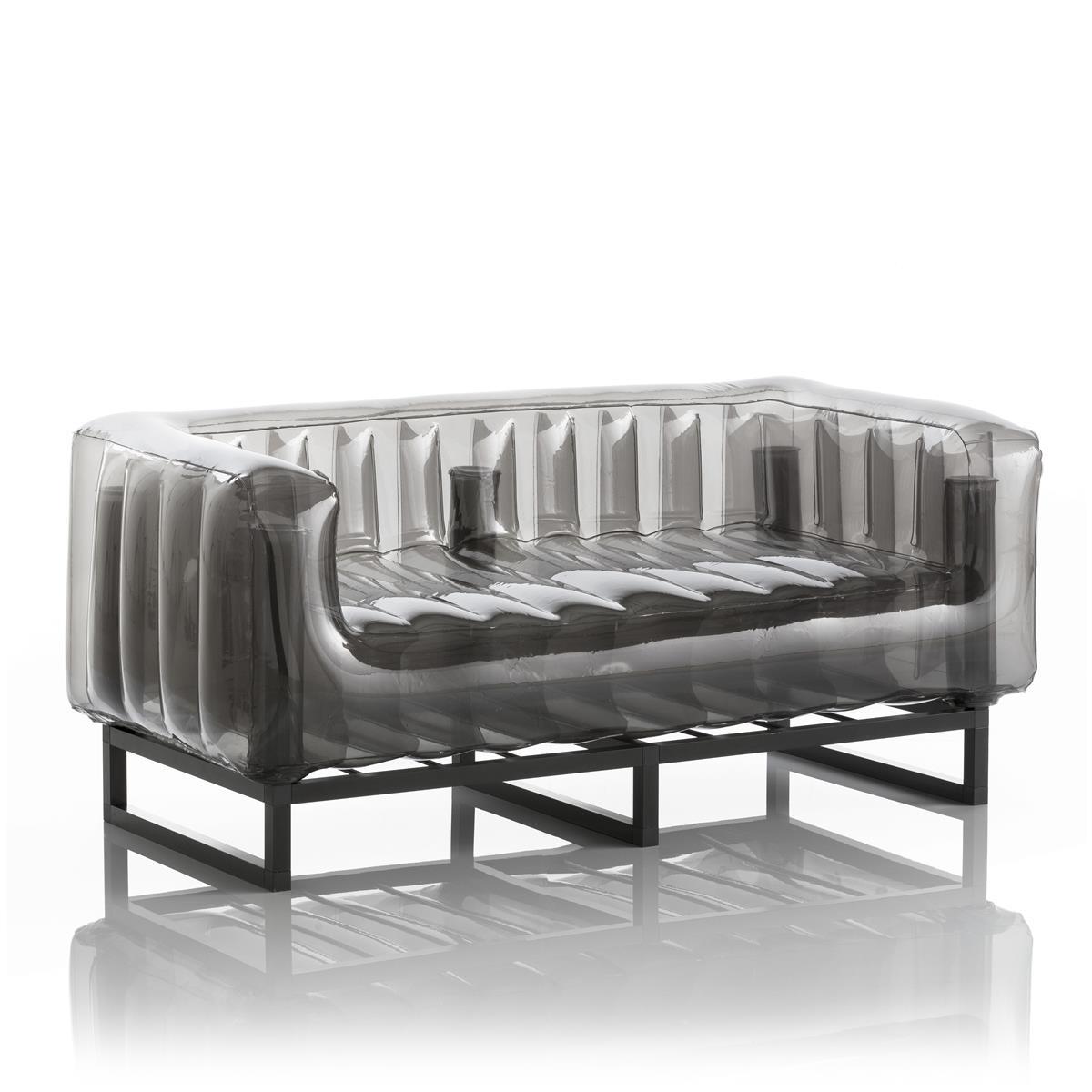 Aufblasbarer Sofa mit Metallstruktur - YOMI Linie - Schwarz