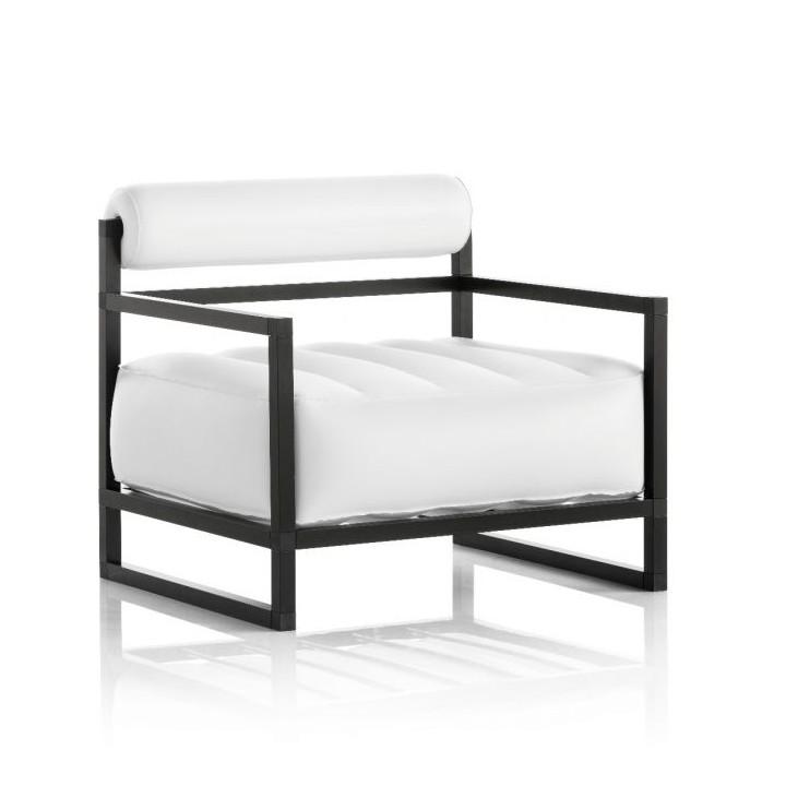 Aufblasbarer Sessel mit Metallstruktur - YOKO Linie - Weiß