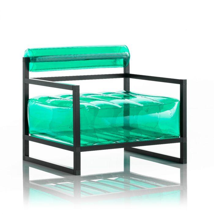 Aufblasbarer Sessel mit Metallstruktur - YOKO Linie - Grün