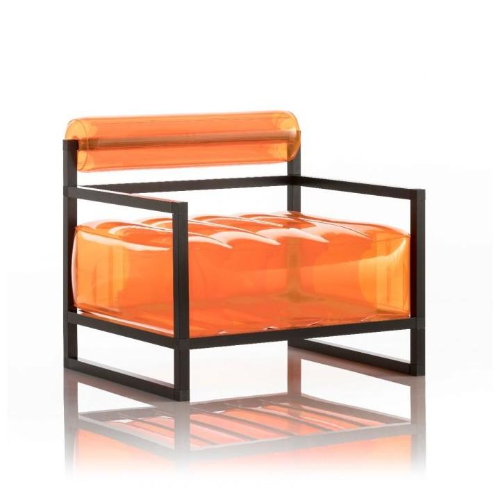 Aufblasbarer Sessel mit Metallstruktur - YOKO Linie - Orange