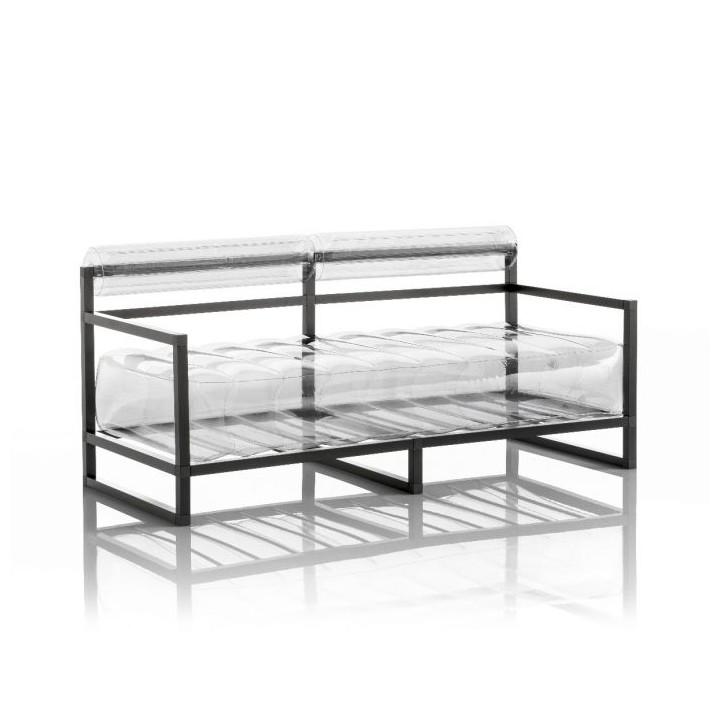 Aufblasbarer Sofa mit Metallstruktur - YOKO Linie - Transparent