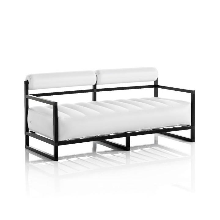 Aufblasbarer Sofa mit Metallstruktur - YOKO Linie - Weiß