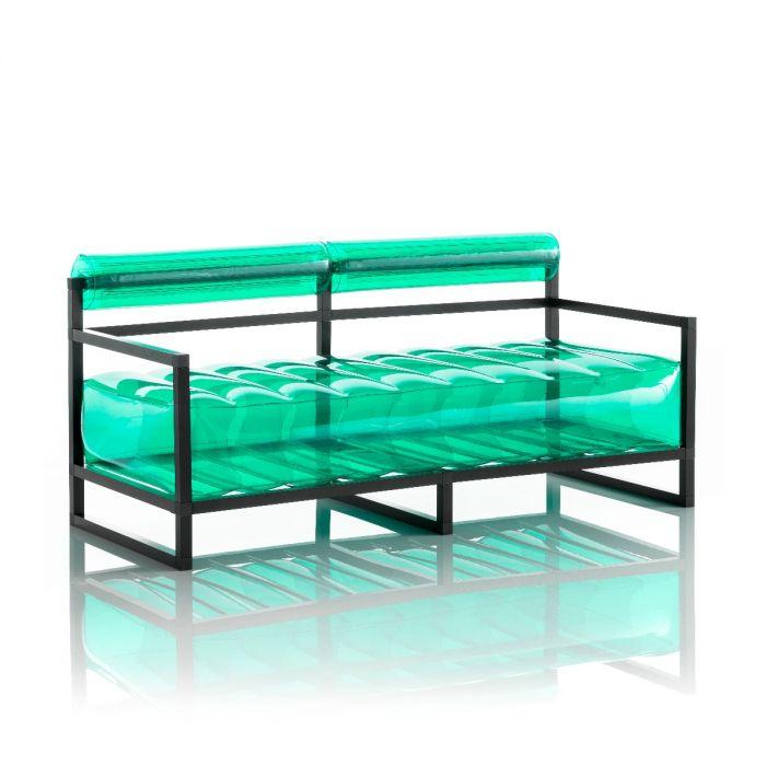Aufblasbarer Sofa mit Metallstruktur - YOKO Linie - Grün