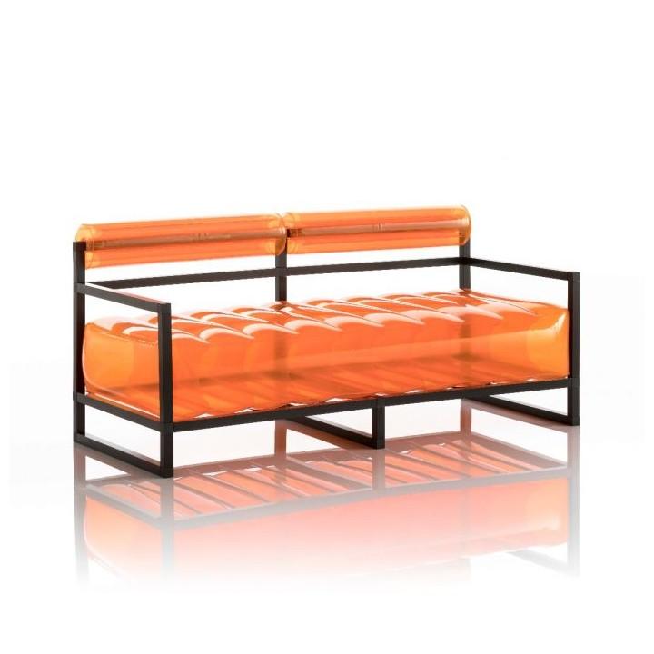 Aufblasbarer Sofa mit Metallstruktur - YOKO Linie - Orange