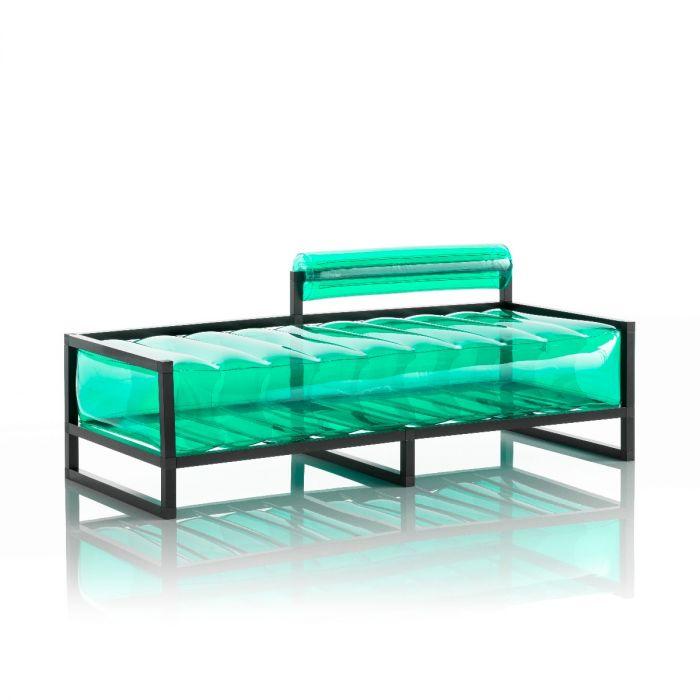 Aufblasbarer Meridienne Sofa mit Metallstruktur -  YOKO Linie - Grün
