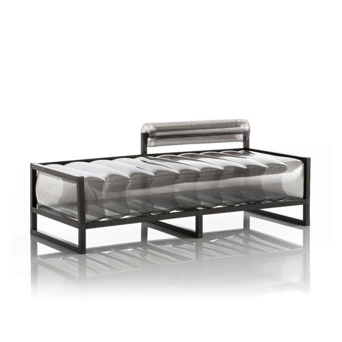 Aufblasbarer Meridienne Sofa mit Metallstruktur -  YOKO Linie - Schwarz
