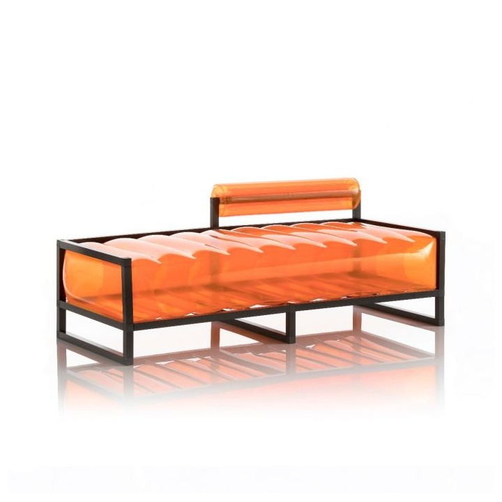 Aufblasbarer Meridienne Sofa mit Metallstruktur -  YOKO Linie - Orange