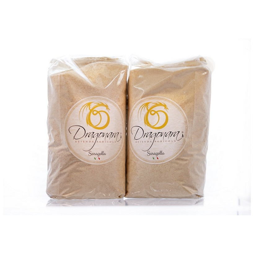BIO Flour of Durum Wheat Semolina Saragolla - Sack of 1 kg Dragonara  Cereals Products