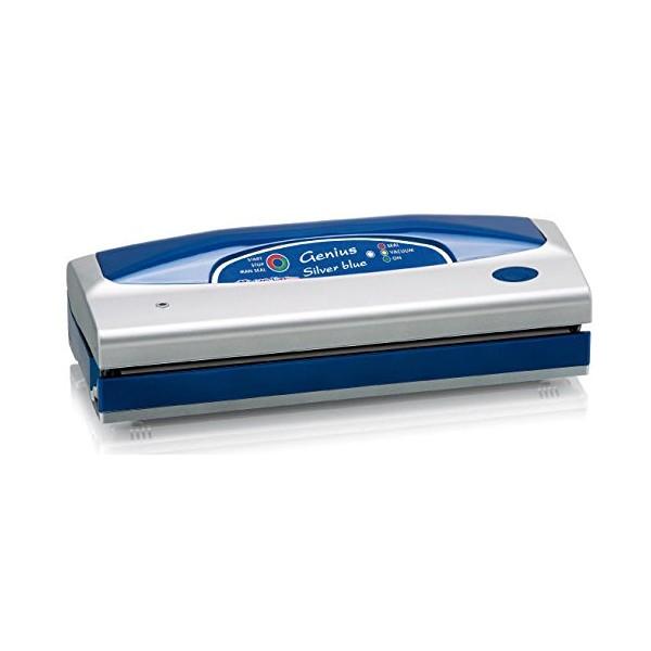 GENIUS SILVER - Vacuum Machine - 800 mbar - 3.15 kg - 390 x 140 x 100 mm - 230 V - 50 Hz - Blue / Si