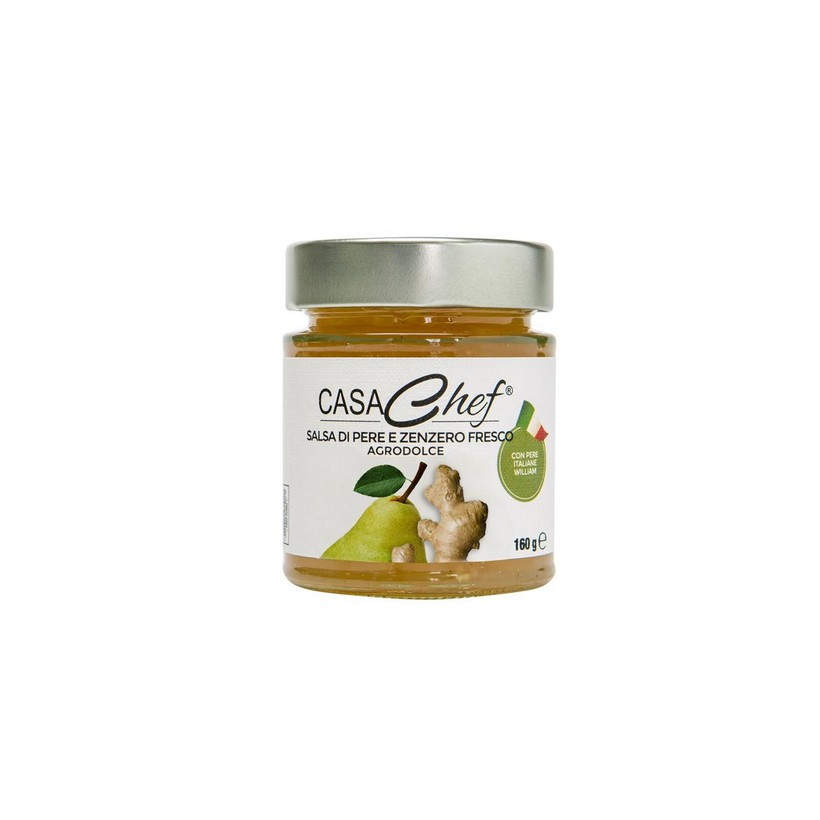 Sweet and Sour Sauce of Pears and Fresh Ginger - Convenience packaging (6 Jar of 160g)