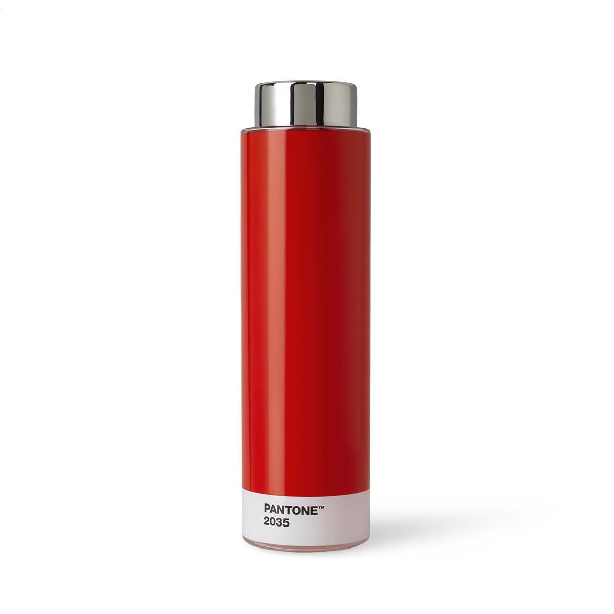 Borraccia Tritan - 500 ml - Acciaio Inossidabile - Rosso 2035 - Set da 6 Pezzi