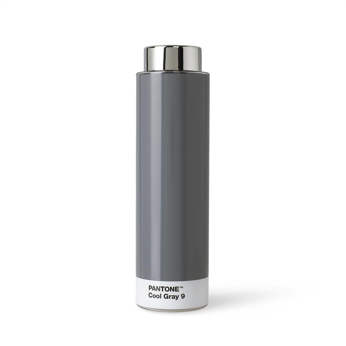 Borraccia Tritan - 500 ml - Acciaio Inossidabile - Grigio Freddo 9 - Set da 6 Pezzi