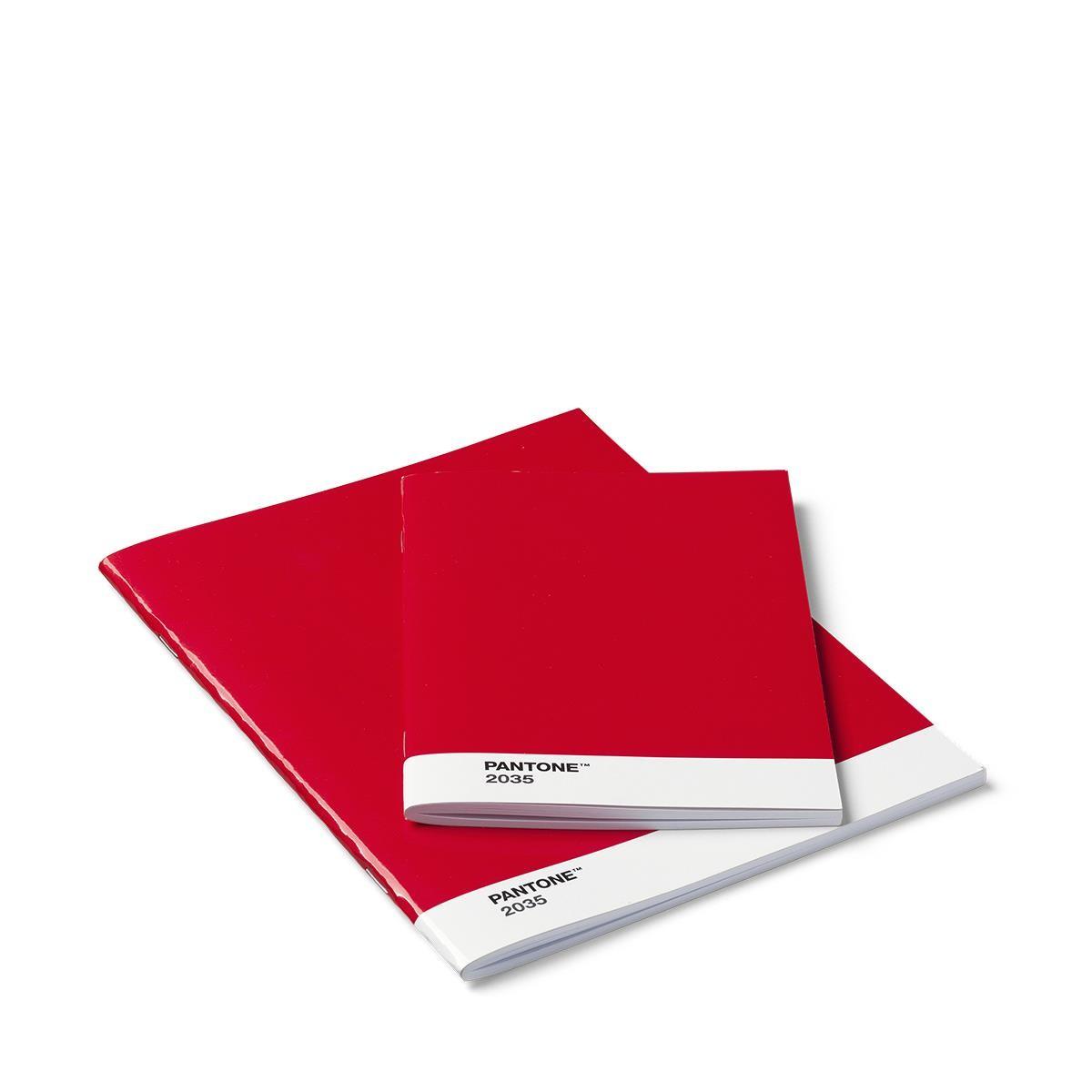 Hefte Blanko 2 Stück Rot 2035 Set Von 12 Stück Pantone Büro Produkte