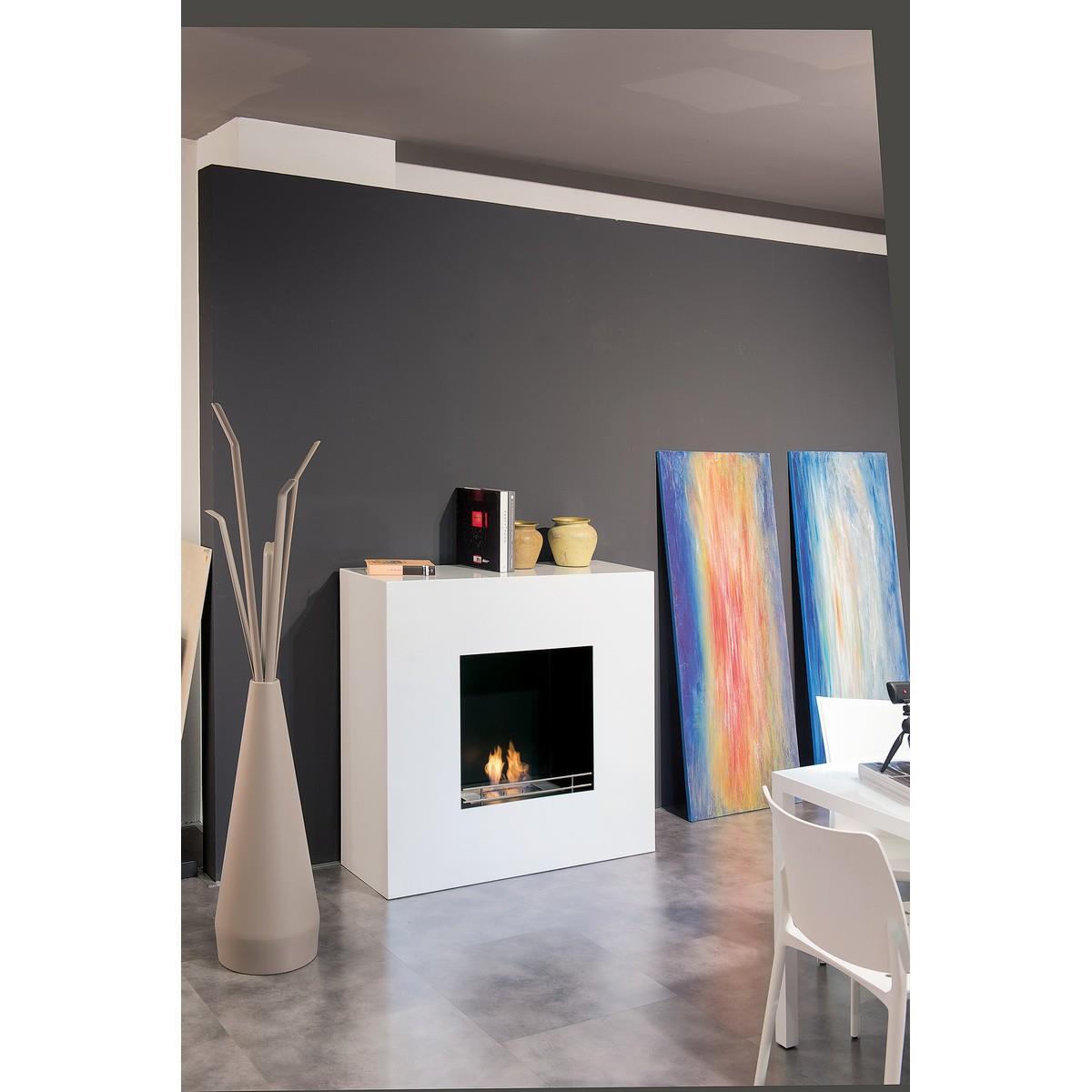 Floor BIO-FIREPLACE - Milano - White