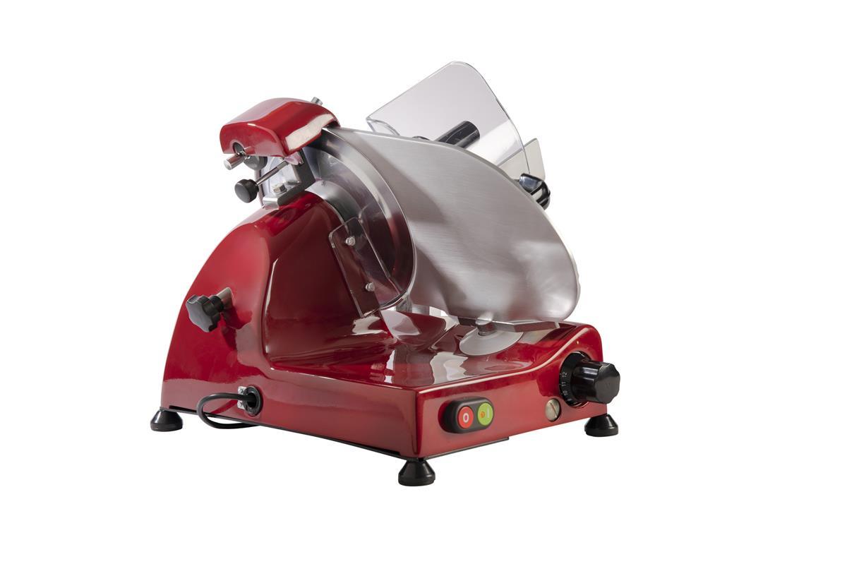 Affettatrice elettrica Curvy Line C250R - Lama 25cm - Affilatoio fisso - Rosso