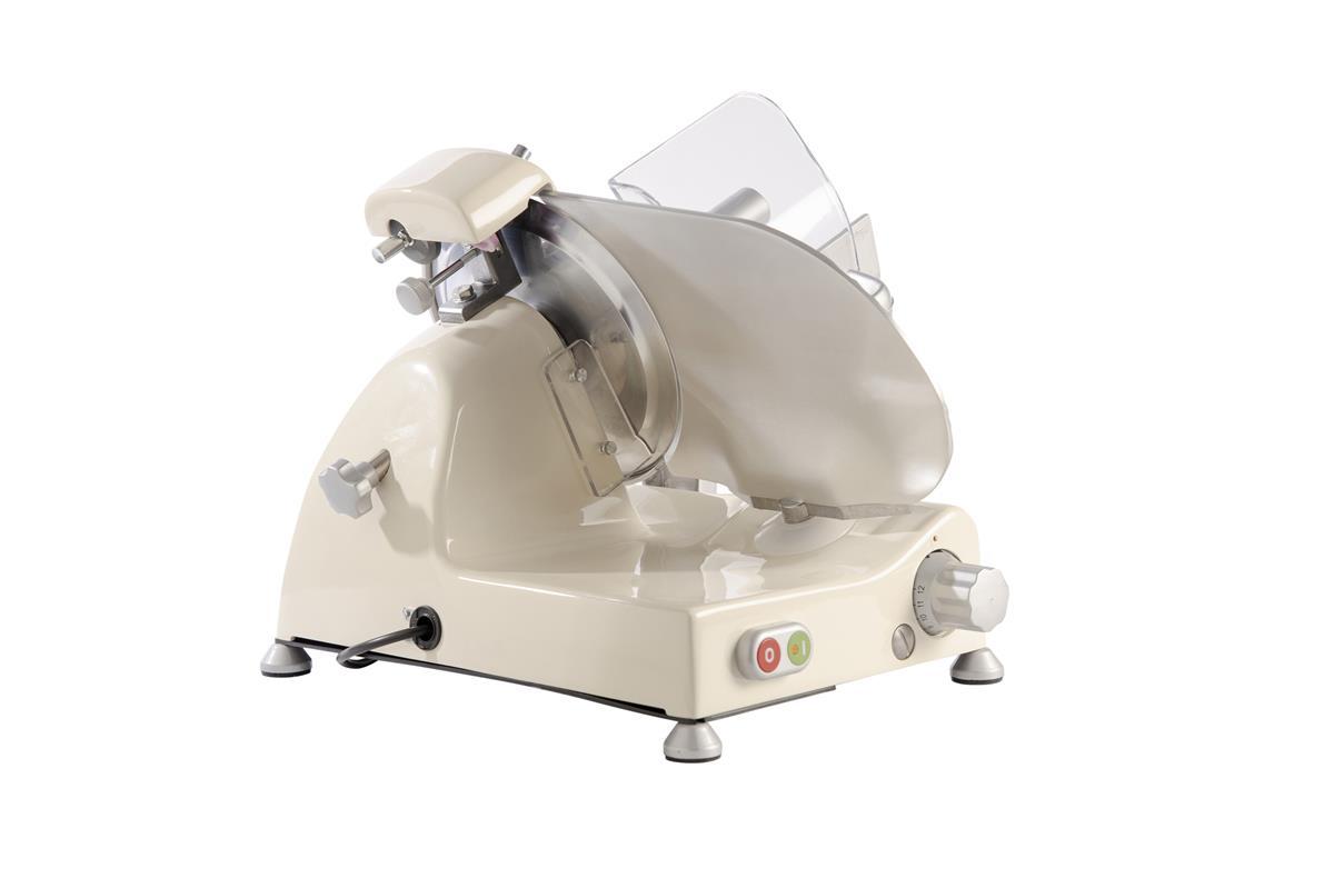 Affettatrice elettrica Curvy Line C250R-Lama 25cm-Affilatoio fisso+pomoli metallizati - Crema