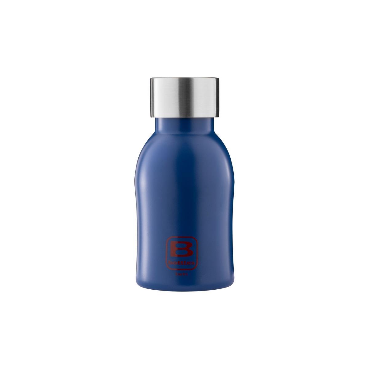 B Bottles Twin - Classic Blue - 250 ml - Bottiglia Termica a doppia parete in acciaio inox 18/10