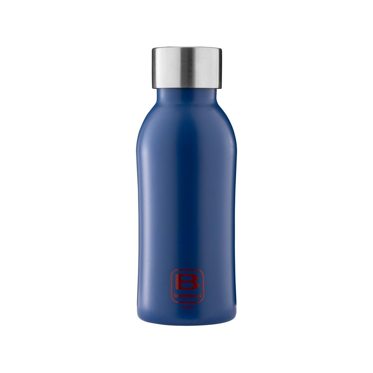 B Bottles Twin - Classic Blue - 350 ml - Bottiglia Termica a doppia parete in acciaio inox 18/10