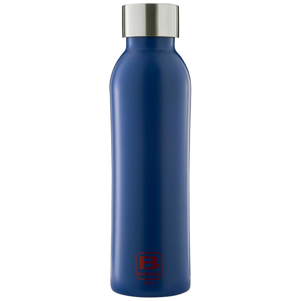 B Bottles Twin - Classic Blue - 500 ml - Bottiglia Termica a doppia parete in acciaio inox 18/10