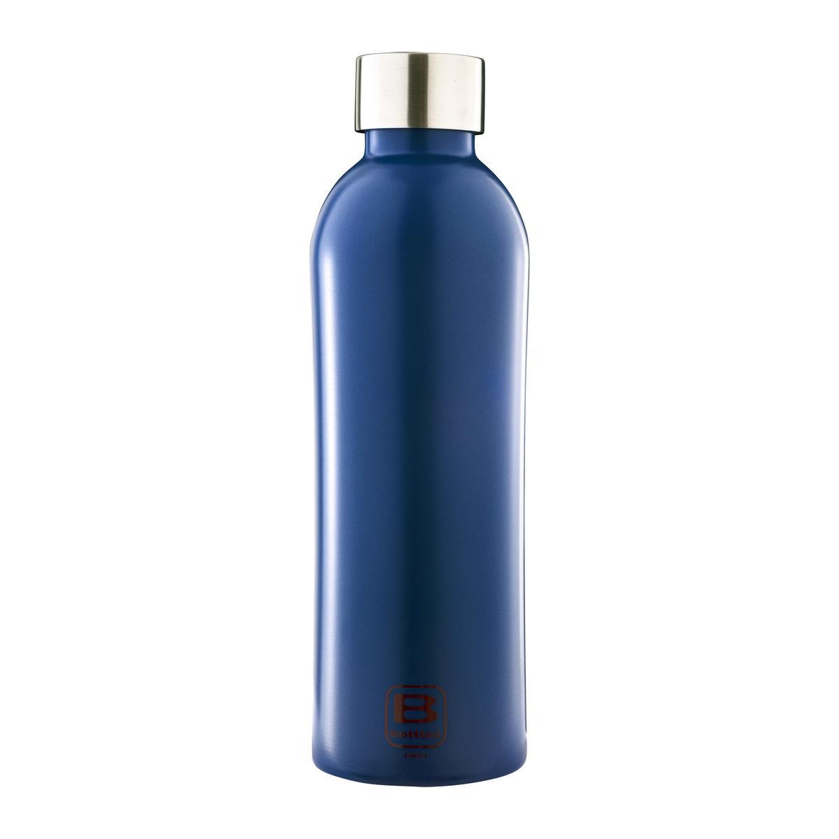 B Bottles Twin - Classic Blue - 800 ml - Bottiglia Termica a doppia parete in acciaio inox 18/10