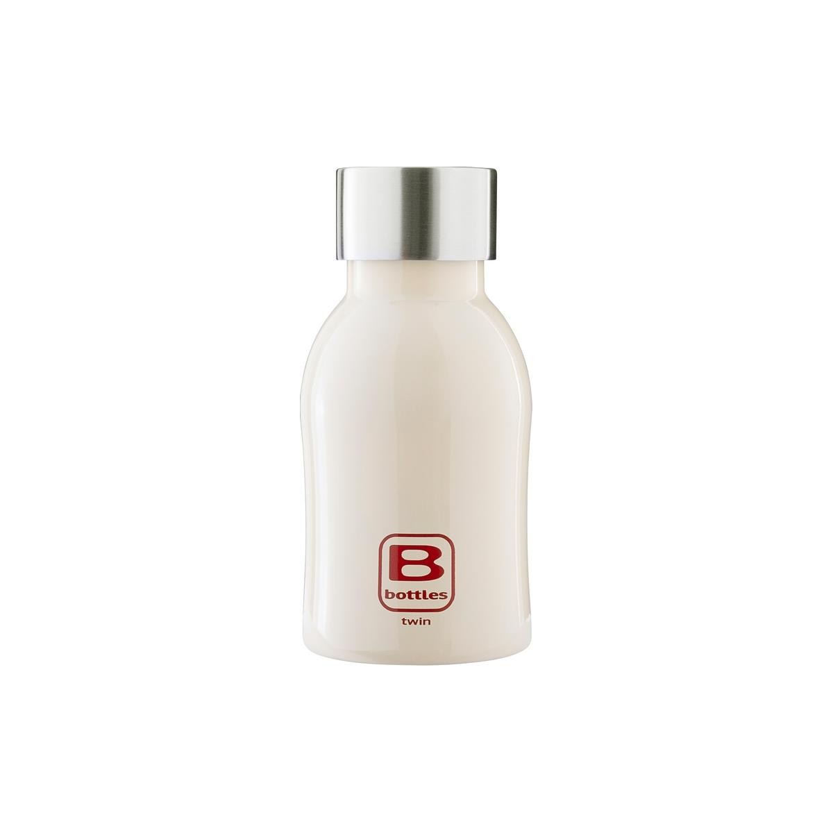 B Bottles Twin - Cream - 250 ml - Bottiglia Termica a doppia parete in acciaio inox 18/10
