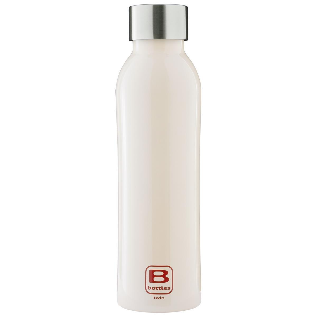 B Bottles Twin - Cream - 500 ml - Bottiglia Termica a doppia parete in acciaio inox 18/10