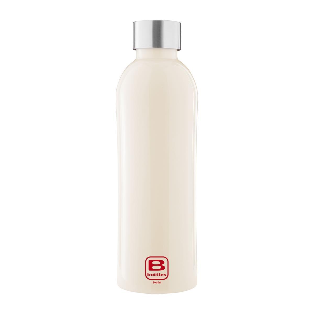 B Bottles Twin - Cream - 800 ml - Bottiglia Termica a doppia parete in acciaio inox 18/10