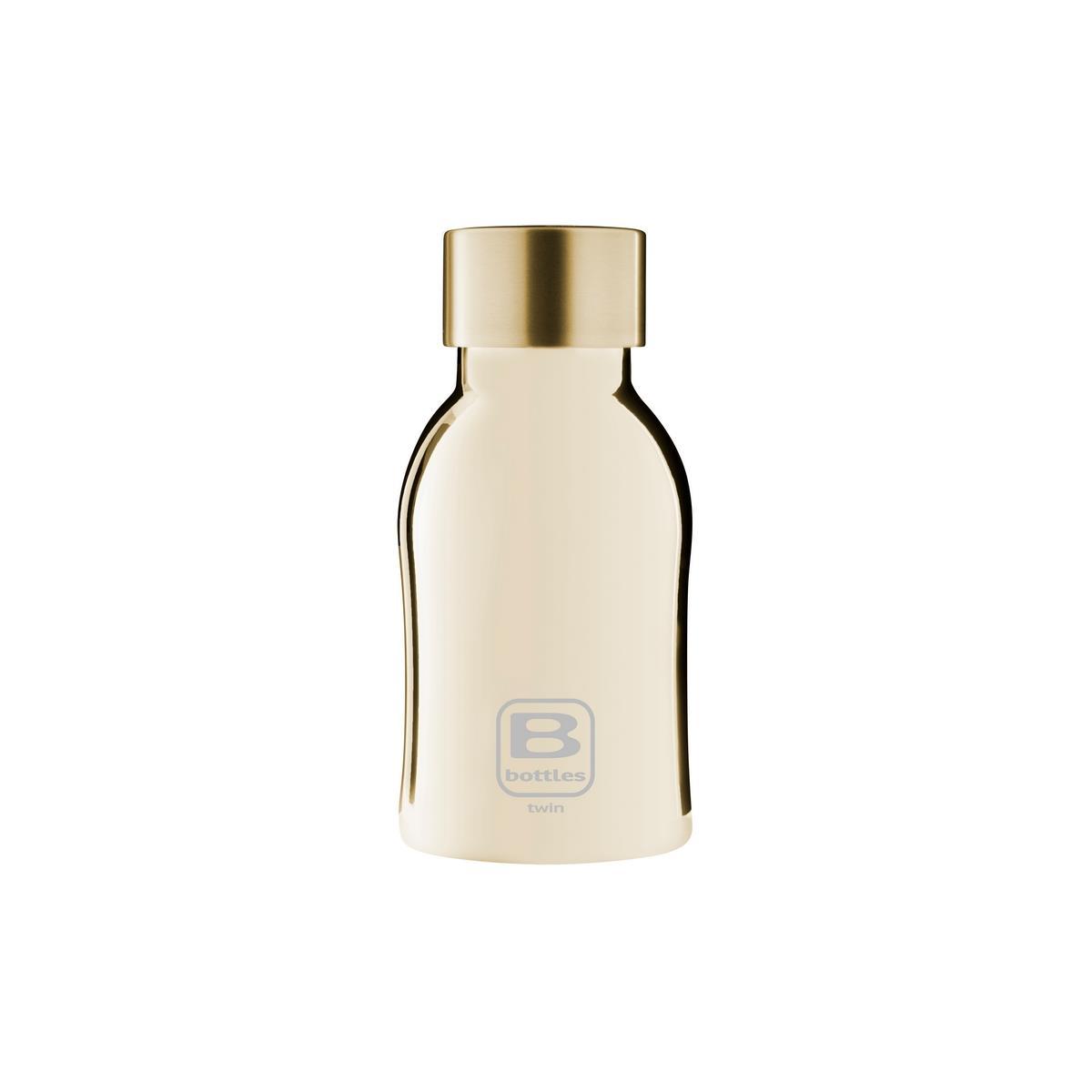 B Bottles Twin - Yellow Gold Lux - 250 ml - Bottiglia Termica a doppia parete in acciaio inox 18/10