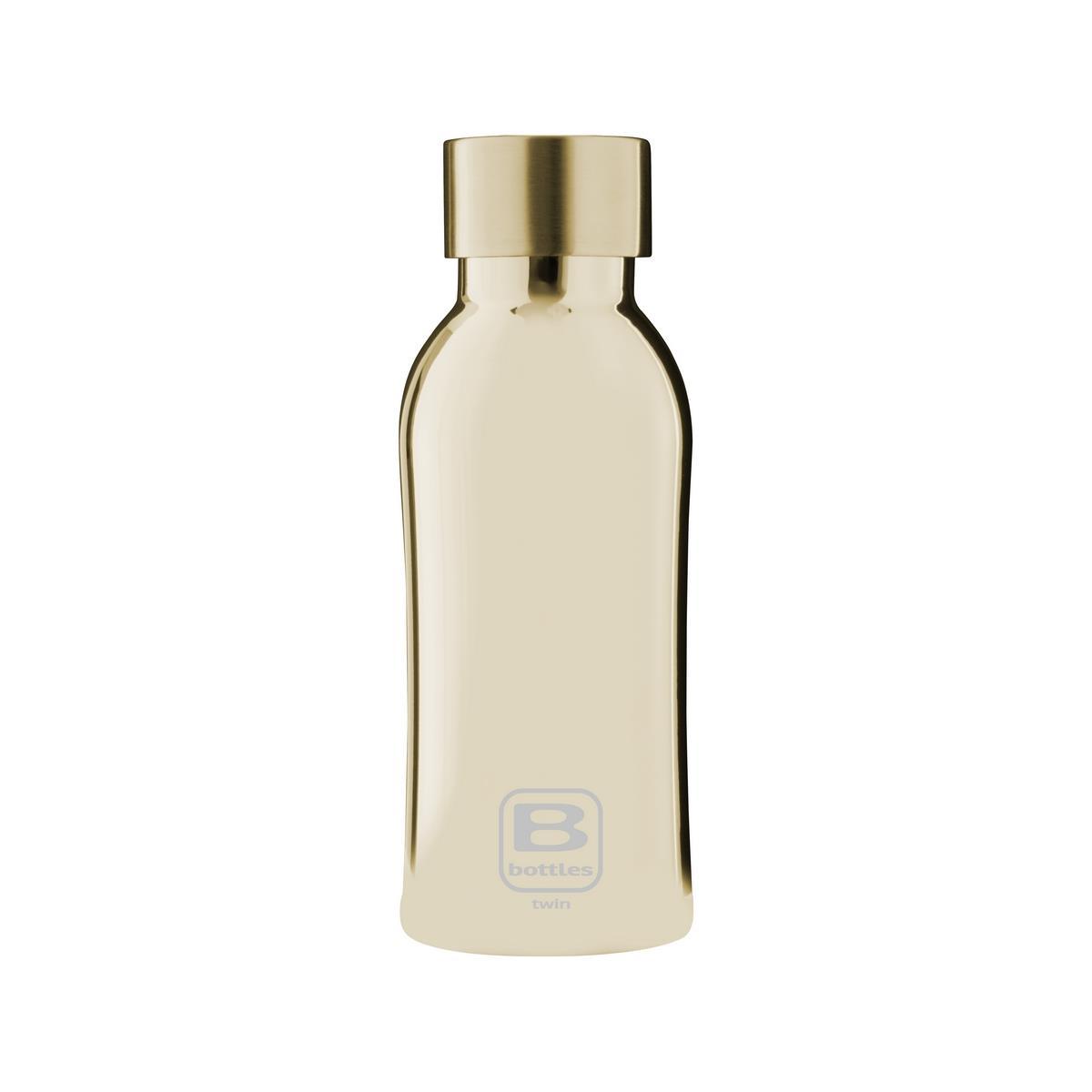 B Bottles Twin - Yellow Gold Lux - 350 ml - Bottiglia Termica a doppia parete in acciaio inox 18/10