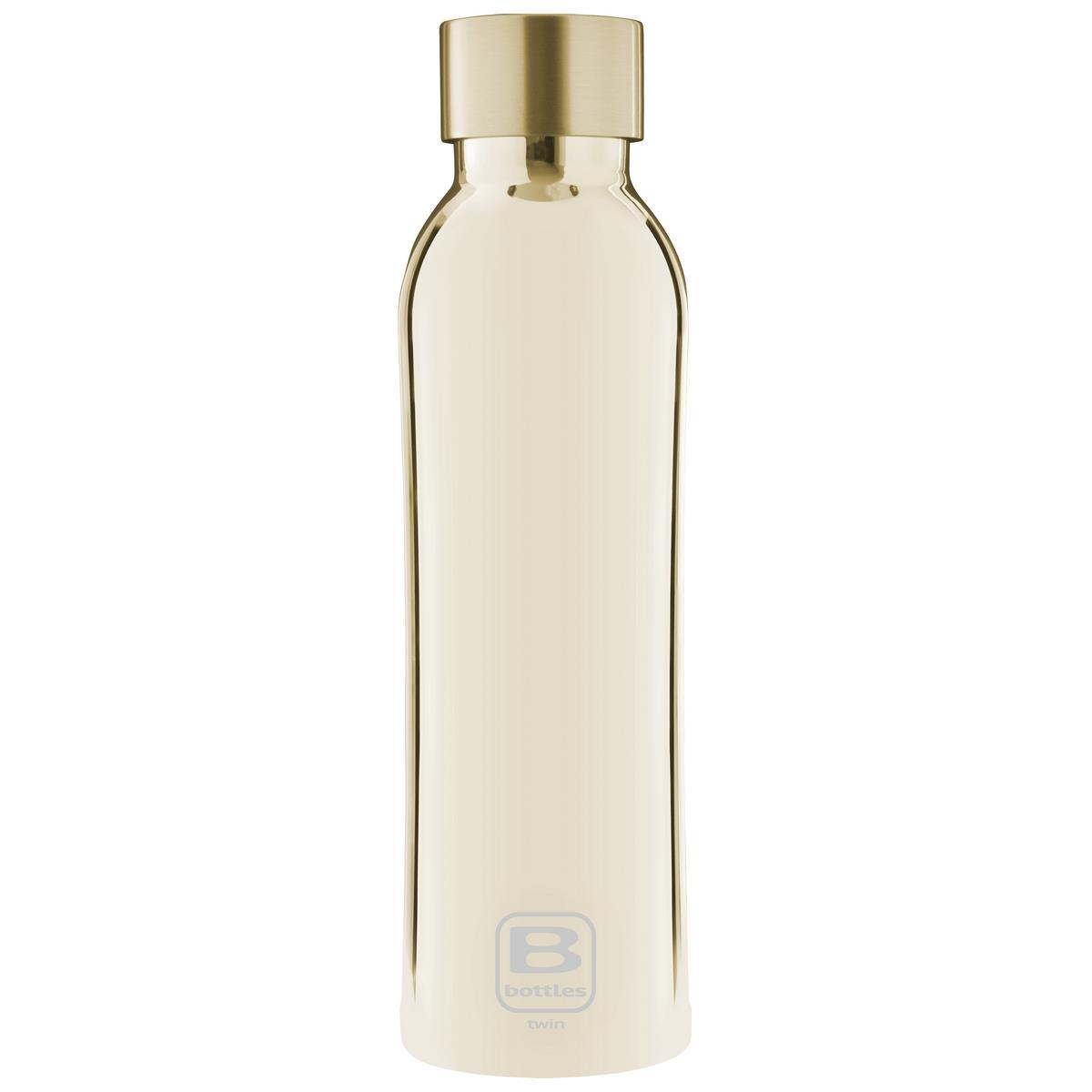 B Bottles Twin - Yellow Gold Lux - 500 ml - Bottiglia Termica a doppia parete in acciaio inox 18/10