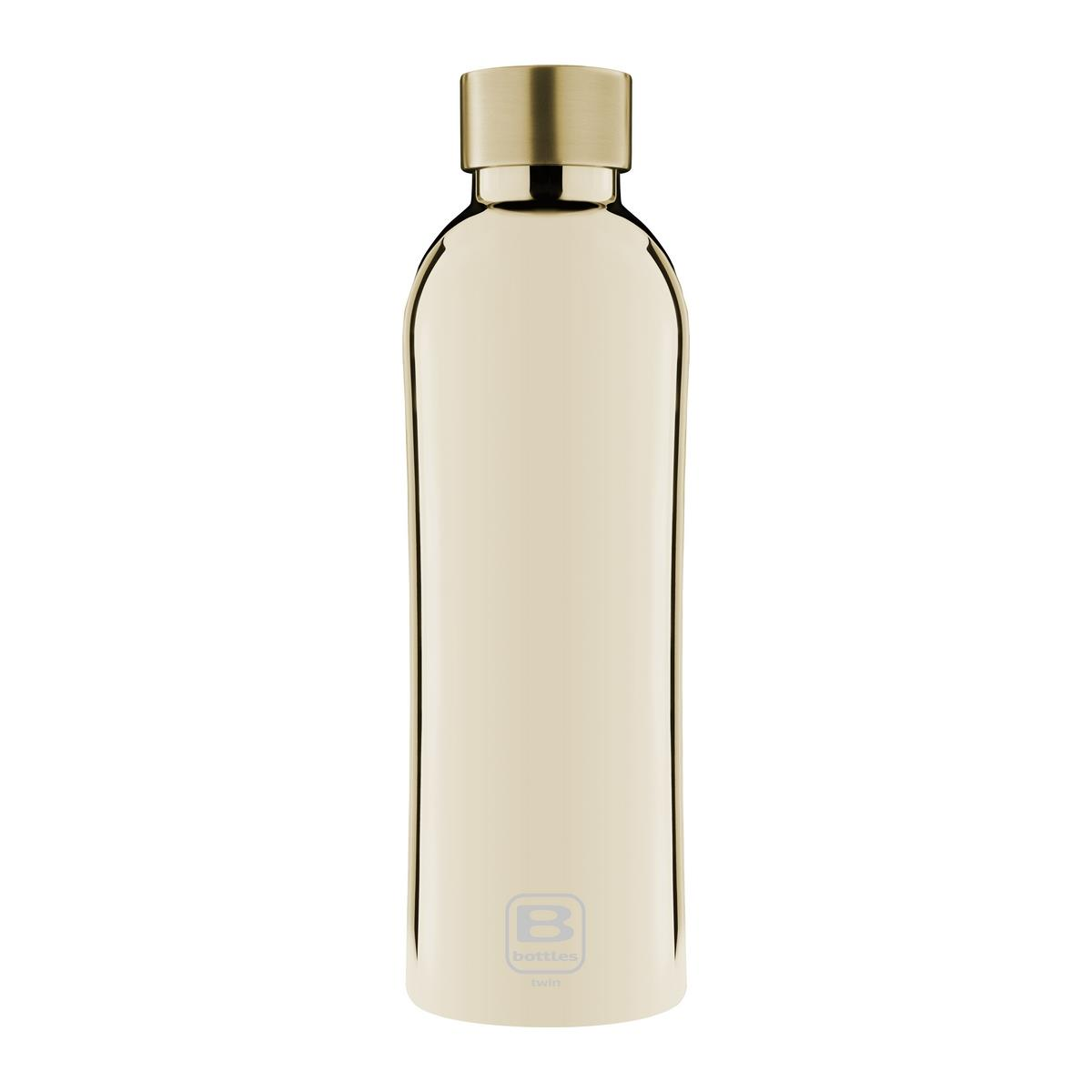 B Bottles Twin - Yellow Gold Lux - 800 ml - Bottiglia Termica a doppia parete in acciaio inox 18/10