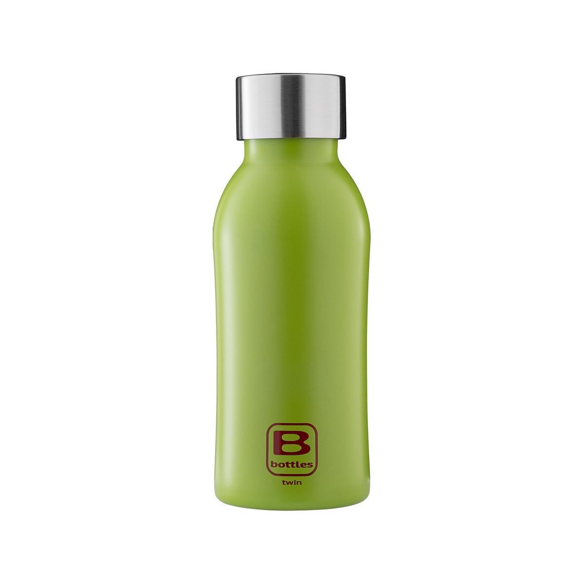 B Bottles Twin - Verde Lime - 350 ml - Bottiglia Termica a doppia parete in acciaio inox 18/10