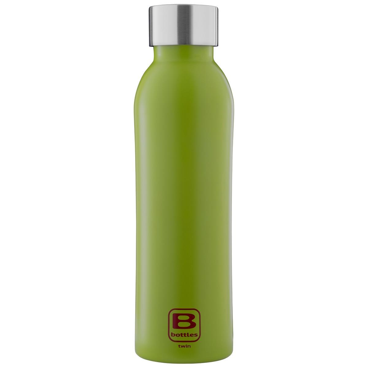 B Bottles Twin - Verde Lime - 500 ml - Bottiglia Termica a doppia parete in acciaio inox 18/10